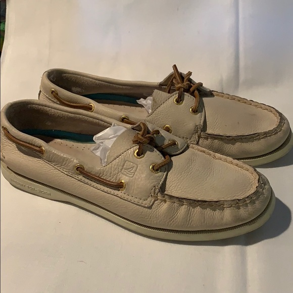 Sperry Shoes   Womens Cream Leather
